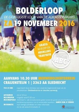 Trimclub ABC Bolderloop zaterdag 19 november 2016