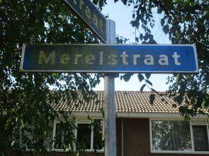 Verschillende straatnamen in het dorp zijn op dit moment slecht te lezen. Wie de taak heeft om deze bordjes schoon te houden, voert deze taak slecht uit. Eigenaar is de gemeente Sliedrecht. (Foto Martin Dekker / Sliedrecht24)